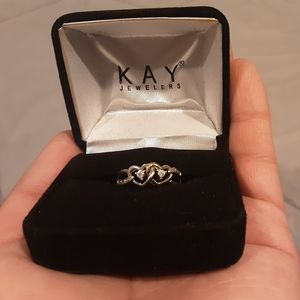Double Heart Kay Jeweler Ring